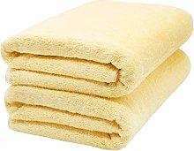 ZOLLNER 2 Asciugamani per la Sauna, Giallo Chiaro,