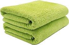 ZOLLNER 2 Asciugamani per la Sauna, Verde Mela,