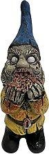 Zombie Gnomo Statua, peso 110 g, scultura zombie,