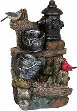 Zona esterna fontana ornamentale a molla ottica in