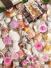 Zqcay Carta da Parati 3D Shell Conch 3D Pavimenti