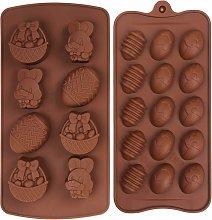 Zqyrlar - 2 pezzi Stampi per cioccolato in
