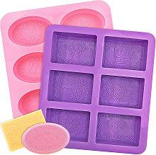 Zqyrlar - 2 pezzi stampi per sapone in silicone 6