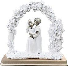 ZSQZJJ Home Decor Statuetta Ornamenti Scultura Una
