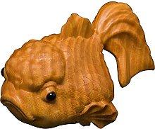 ZSQZJJ Pesce Fortunato in Legno di bosso Statua in